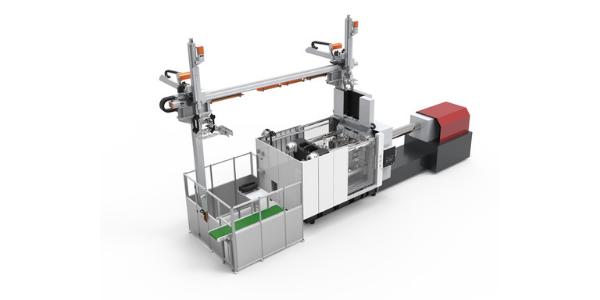 17 Soluções integradas de automação e células produtivas_Power bracket online injection molding system