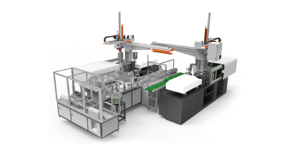 9 IML e Robots laterais - Inserting system for battery